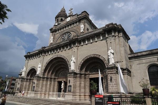 Popular tourist site The Minor Basilica and Metropolitan Cath in Manila