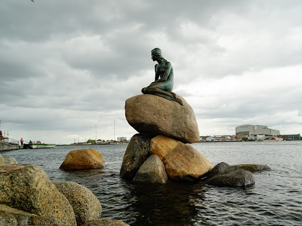 Popular tourist site The Little Mermaid in Copenhagen