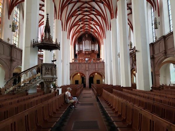 Popular tourist site St. Thomas Church in Leipzig