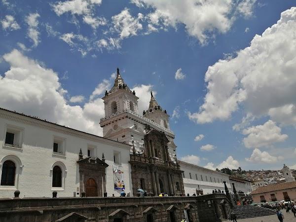Popular tourist site San Francisco Church in Quito