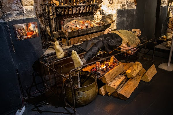 Popular tourist site Torture Museum Oude Steen Brugge in Bruges
