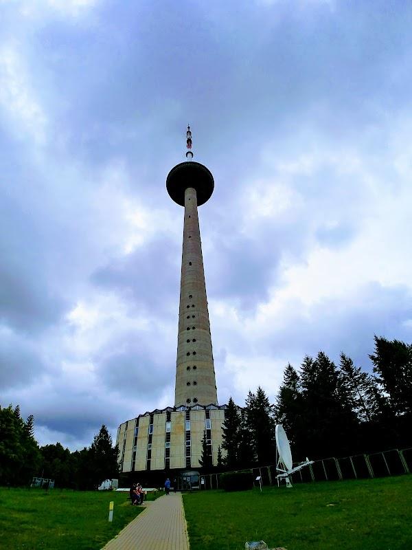 Popular tourist site Vilnius TV Tower in Vilnius