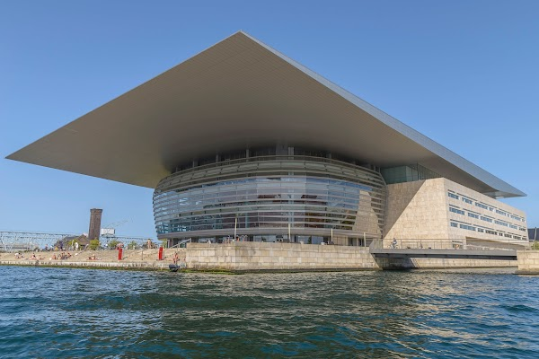 Popular tourist site Copenhagen Opera House in Copenhagen