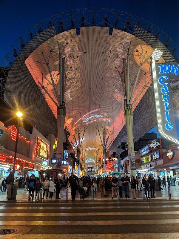 Popular tourist site Fremont Street Experience in Las Vegas
