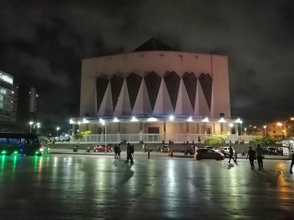 Popular tourist site Plaza de la Paz - John Paul II in Barranquilla