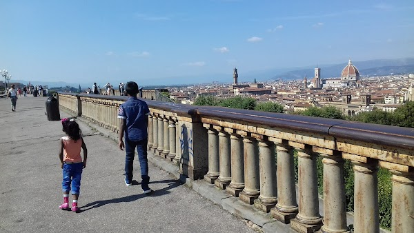 Popular tourist site Piazzale Michelangelo in Florence