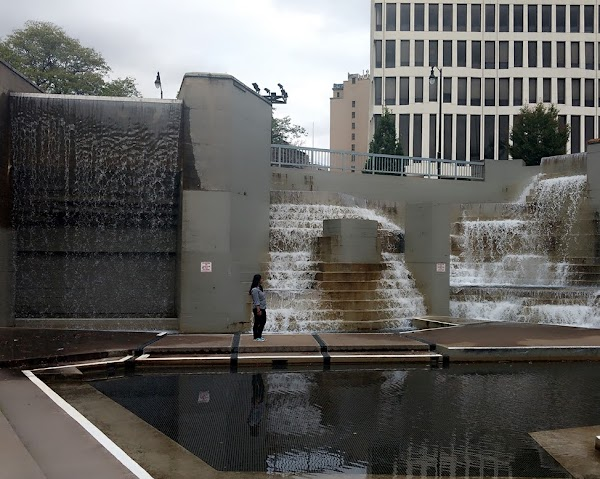 Popular tourist site Martin Luther King Jr Memorial Park at M in Rochester