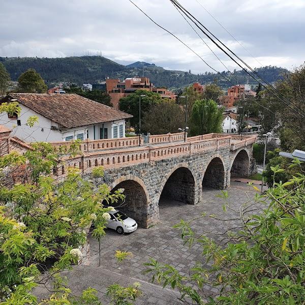 Popular tourist site Puente Roto in Cuenca