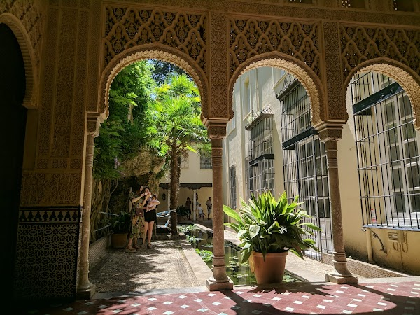 Popular tourist site Carmen de los Martires in Granada