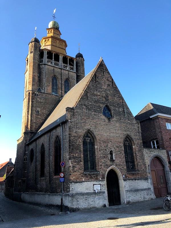 Popular tourist site Jeruzalemkerk in Bruges