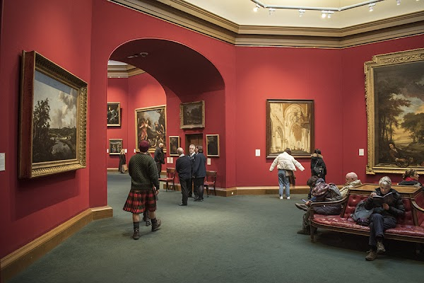 Popular tourist site Scottish National Gallery in Edinburgh