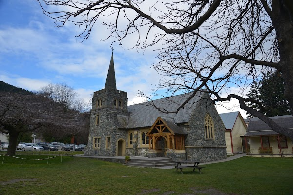 Popular tourist site St Peter's Anglican Church in Queenstown