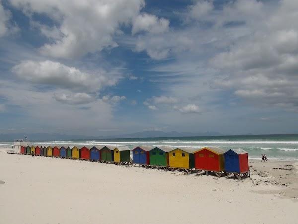 Popular tourist site Muizenberg Beach in Cape Town