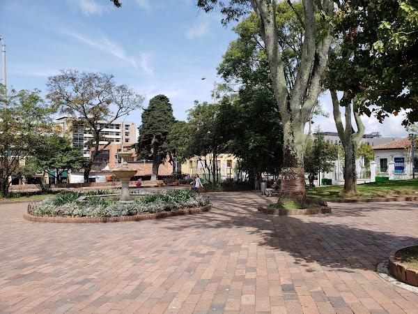 Popular tourist site Usaquén Park in Bogota