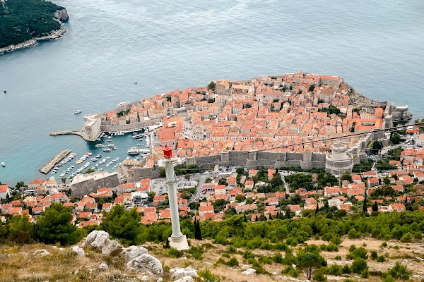 Popular tourist site Dubrovnik Cable Car in Dubrovnik