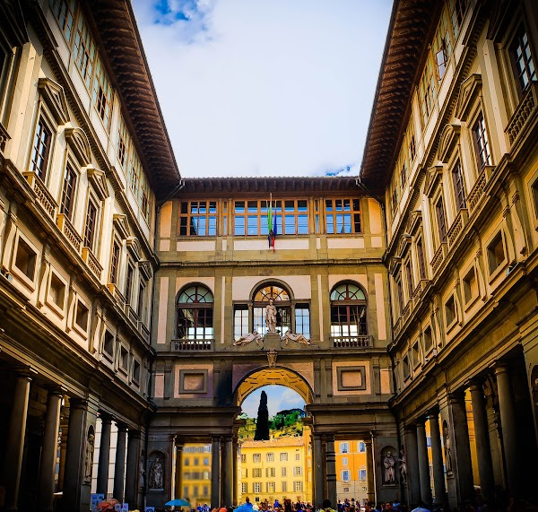 Popular tourist site Uffizi Gallery in Florence