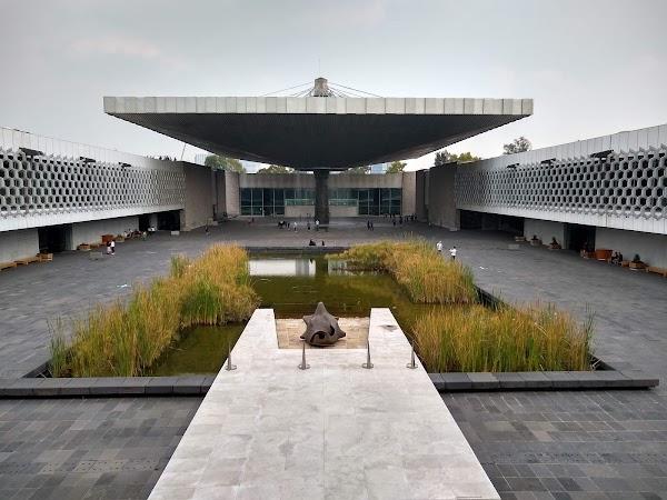 Popular tourist site Museo Nacional de Antropología in Mexico City