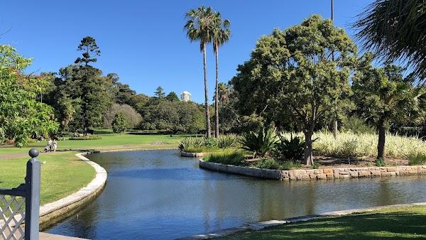 Popular tourist site Royal Botanic Gardens in Sydney