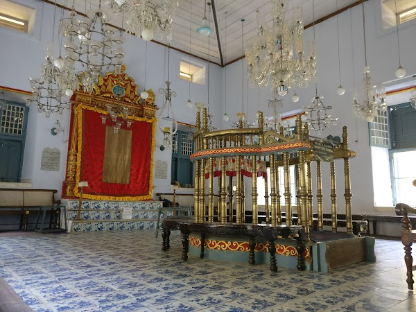 Popular tourist site Paradesi Synagogue in Cochin