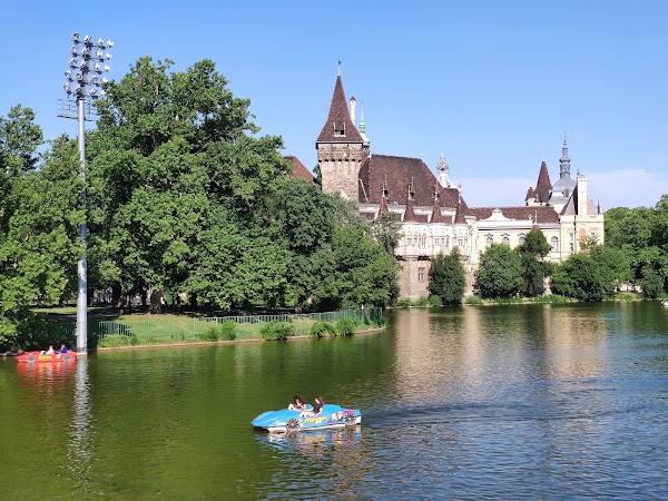 Popular tourist site Vajdahunyad Castle in Budapest