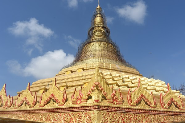 Popular tourist site Global Vipassana Pagoda in Mumbai