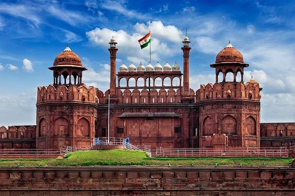 Popular tourist site Red Fort in New Delhi