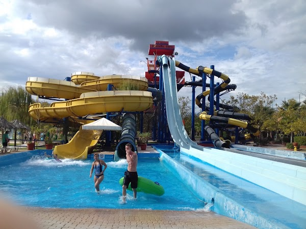 Popular tourist site Aqualand Corfu Water Park in Corfu