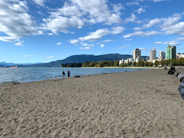 Popular tourist site English Bay Beach in Vancouver