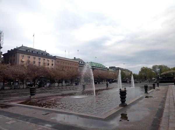 Popular tourist site Kungsträdgården in Stockholm