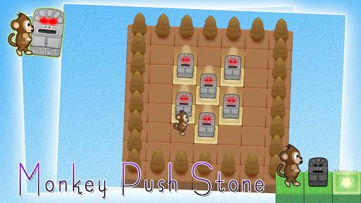 Monkey push stone