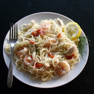 Shrimp and Chicken Angel Hair Pasta
