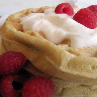Banana-Raspberry Belgian Waffles