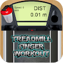 Treadmill finger workout icon