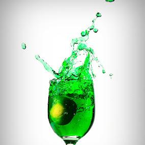 Green Splash by Sony Arezki - Artistic Objects Cups, Plates & Utensils