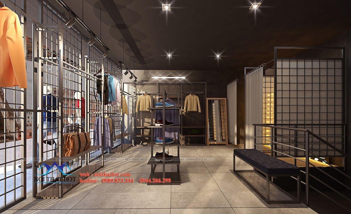 thiết kế shop thời trang nam H2T 14