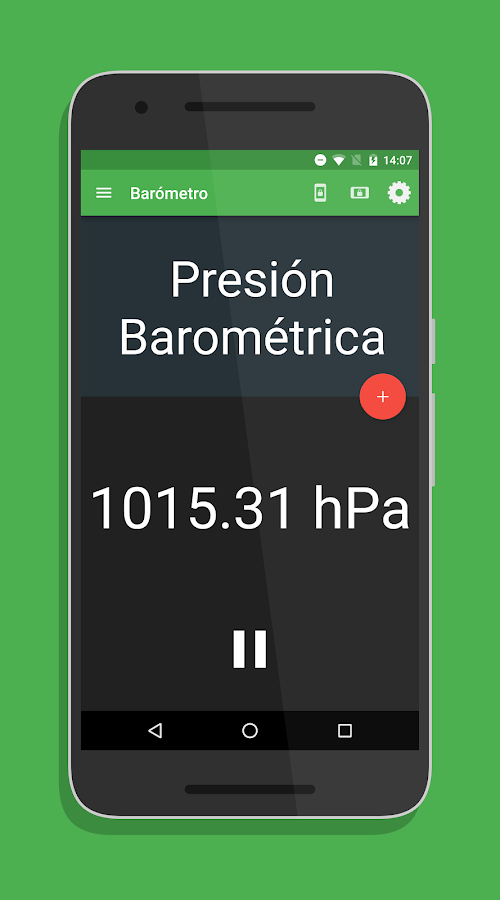Physics Toolbox Sensor Suite: captura de pantalla
