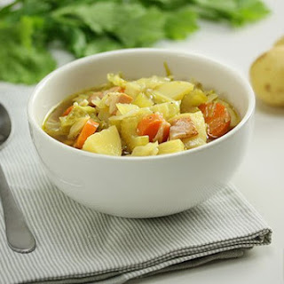 Potato Cabbage and Bacon Soup