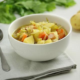 Potato Cabbage and Bacon Soup.