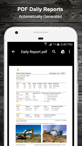NoteVault Notes! Construction Daily Reports screenshot