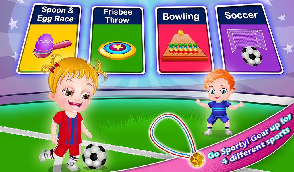 Screenshots of Baby Hazel Sports Day for iPhone
