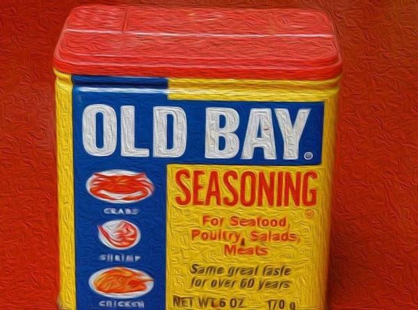 Combine the old bay, black pepper, worcestershire, lemon juice, vinegar, sugar, and softened cream...