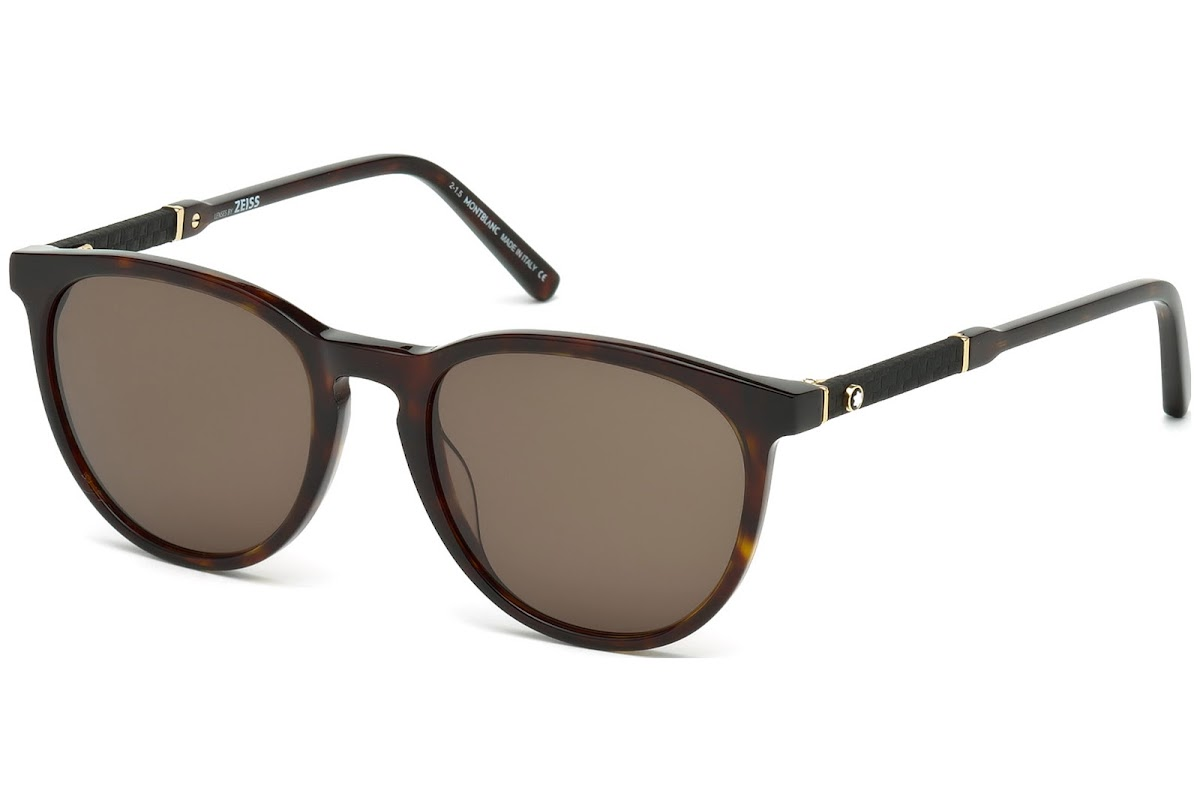 215052243d36 Buy Montblanc MB588S C52 52E (dark havana   brown) Sunglasses