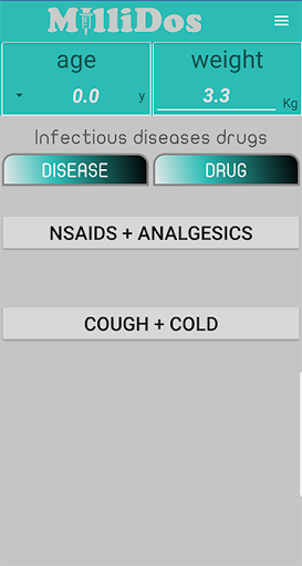 Millidos - Pediatric Drug Dosages 3.5 screenshots 2
