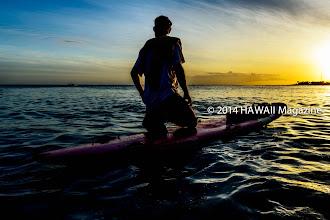 Photo: PEOPLE CATEGORY, FINALIST. Lifeguard at Ala Moana Beach, Oahu. Photo by Henry Aguilar, Ewa Beach, Oahu, Hawaii.