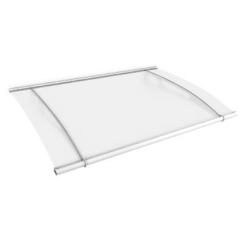 Pultbogenvordach XL, Weiß