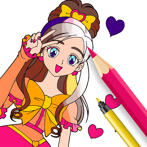 Anime Coloring Book - Adult Coloring Pages 2019 Icon