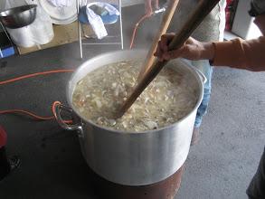 Photo: 草津の湯揉みの様な寸胴