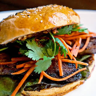 Asian Infused Pork Belly Sandwiches.