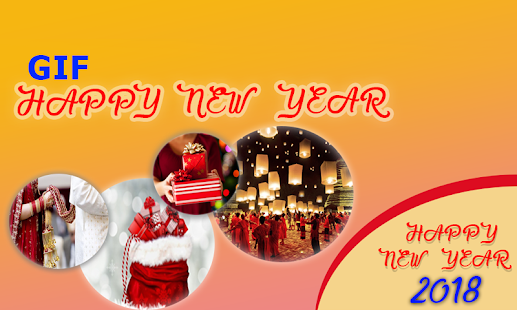 Happy New Year 2018 GIF: Wishes & Greeting Cards - náhled
