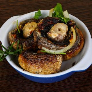Air Fryer Stuffed Garlic Mushrooms